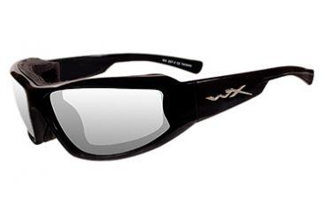 Wiley X Jake Sunglasses CCJAK03 - Black Frame, Clear Lenses