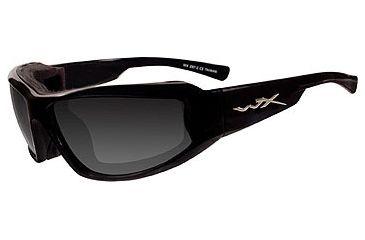 Wiley X Jake Sun Glasses CCJAK01 - Black Frame, Smoke Lenses