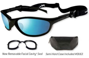Wiley X JP-2 Sunglasses/ Goggles w/ Blue Ice Lenses/ Gloss Black Frame 509