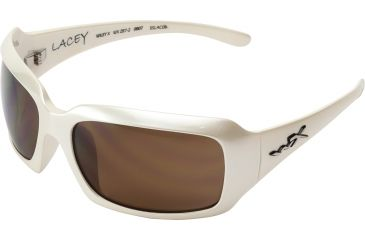 153d315ff37b9 Wiley X Lacey Sun Glasses Pearl White Bronze Brown