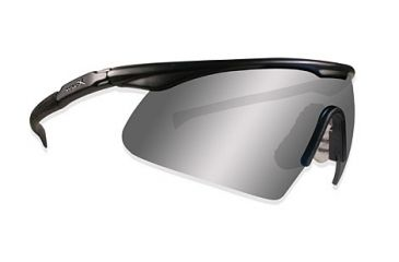 Wiley-X PT-1 Tactical Eyeshield - Matte Black w/ Smoke, Clear lenses PT-1-SC