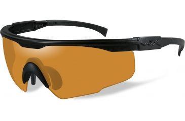 Wiley-X PT-1 Sunglasses - Matte Black Frame w/ Light Rust Lens