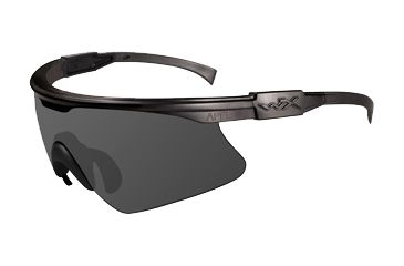 Wiley-X PT-1 Sunglasses, Matte Black Frame w/ Smoke Grey Lens PT-1S