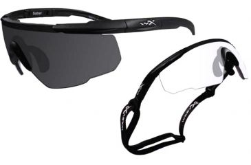 2748a466f323 Wiley X Saber Advanced X2 Eyeshields, 2 pairs - Smoke Gray and Clear lenses  307