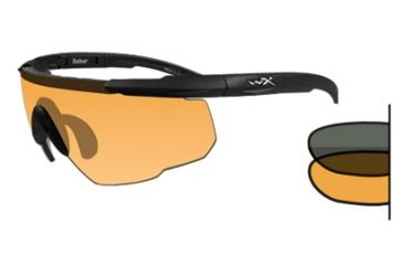 Wiley X Saber Advanced Tactical Glasses - 2-Lens Kit w/ Smoke & Rust Lenses
