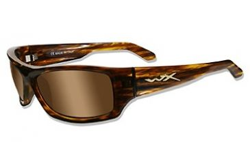 Wiley X SLIK Sun Glasses, Gloss Layered Tortoise Frame, Polarized Bronze Brown Lenses