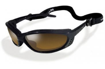 Wiley-X JP-3P Polarized Bronze Brown / Gloss Black Sunglasses / Goggles