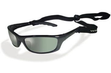 Wiley-X P-17 Polarized Smoke Green / Gloss Black Sunglasses