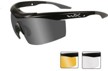 Wiley-X WX Talon Sunglasses, Matte Black Frame, Smoke/Clear/Light Rust Lenses CHTAL2