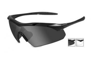 56056c4cce59 Wiley X Vapor Safety Sunglasses, 2 Lens Package, 1 Matte Black Frame w/