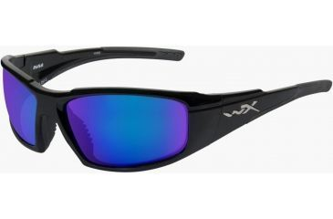 Wiley X WX Rush ACRUS RX Single Vision Sunglasses - Gloss Black Frame ACRUS04RX