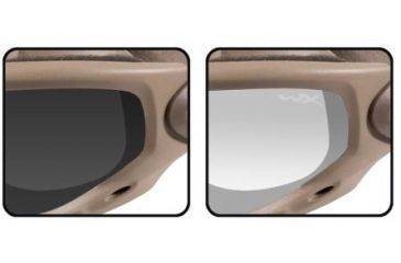 Wiley X Spear - Smoke Gray & Clear Lenses - Close-up SP29T
