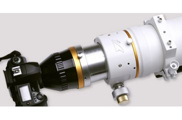 William Optics FluoroStar 110 mm ED Triplet f/7 APO Refractor Telescope FLT110-TMB-O - Connected to a camera