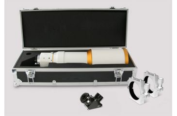 William Optics Megrez 90 APO Fluorite Doublet Refractor Telescope Package w/ 2'' CF Dielectric Diagonal, SLV 90 OD Mounting Rings, and Case M90FD-W-P