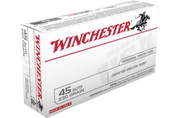 WINCHESTER .45 ACP 230 grain Jacketed Hollow Point Centerfire Pistol Ammunition