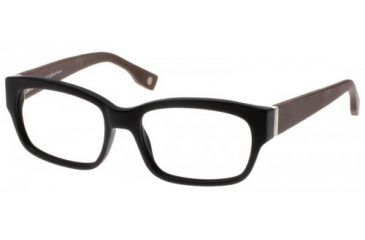 Wood U?  702  Eyeglass Frames - Matte Black-Dark Mahogany Frame 50-18-145 WD702