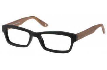 Wood U?  704  Eyeglass Frames - Black-Nutmeg Violet Frame 53-18-145 WD704
