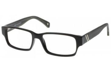 Wood U? 706 Single Vision Rx Eyeglasses - Shiny Black-Charcoal Cream Frame, Shiny Black-Charcoal Cream, 55-16-145 WD706RX