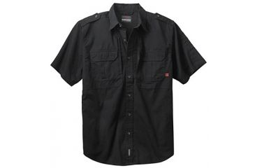 Woolrich Tactical Elite Men's Elite Short Sleve Shirt, Black, 3XL WL44901BKR3XL