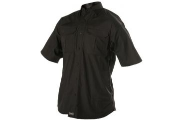 Woolrich Tactical Elite Men's Lightweight Short Sleeve Operator Shirt, Black, 3XL WL44914BKR3XL