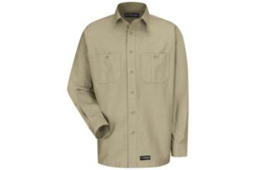 Wrangler Workwear Wrangler Workwear Long Sleeve Shirt, Khaki, RGS WS10KHRGS