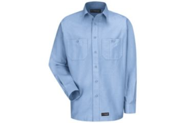Wrangler Workwear Wrangler Workwear Long Sleeve Shirt, Light Blue, RGS WS10LBRGS