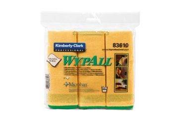 Wypall Microfiber Cloths with Microban Protection, Yellow, 15.75in. x 15.75in. 83610