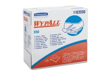 Wypall X50 Wipers, Jumbo Roll, White, 9.8in. x 13.4in. / 24.9cm x 34cm 35015