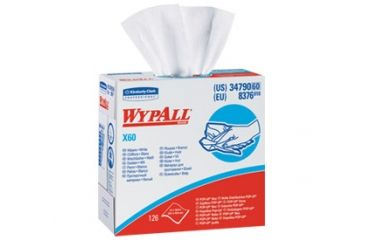 Wypall X60 Wipers, 1/4 Fold, White, 11in.x23in. 34770