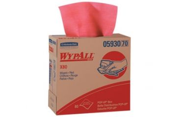 Wypall X80 Towels, Jumbo Roll, Red, 12.5in.x13.4in. 41055