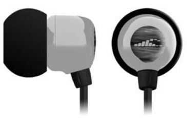 X-1 Audio Surge Pro Mini Waterproof Headphones H2O-BA1-GY