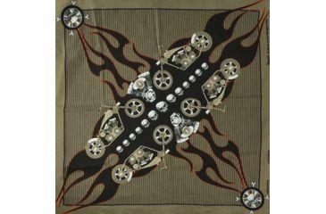 Zan Headgear Bandanna, V-Twin Crossbones B143