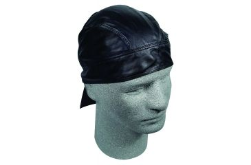 Zan Headgear Black Leather Flydanna Z211