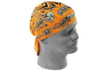 Zan Headgear Flydanna Orange Tribal Skull Z669
