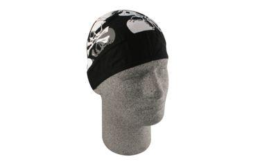 Zan Headgear Flydanna Skull Collage B & W Z593