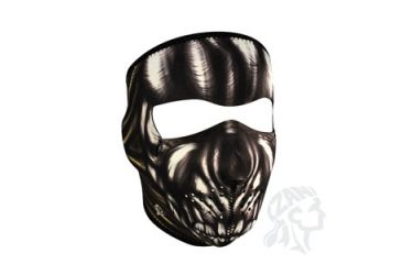 Zan Headgear Full Mask, Neoprene, Ancient Skull WNFM083
