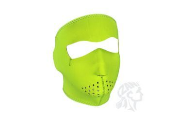 Zan Headgear Full Mask, Neoprene, High-Visibility Lime WNFM142L