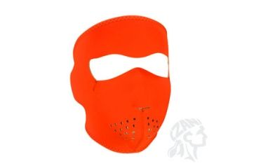 Zan Headgear Full Mask, Neoprene, High-Visibility Orange WNFM142