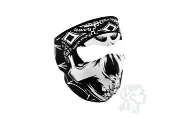 Zan Headgear Full Mask, Neoprene, Lethal Threat, Gangster Skull WNFMLT06