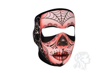 Zan Headgear Full Mask, Neoprene, Sugar Skull WNFM082
