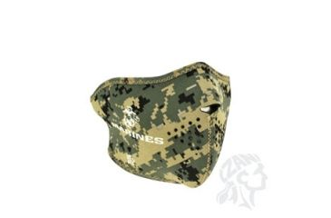 Zan Headgear Half Mask, Neoprene, USMC, MARPAT and Logo WNFM802H