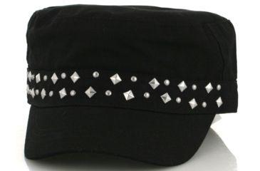 Zan Headgear Highway Honey Series Black Studded Cap CPHH01