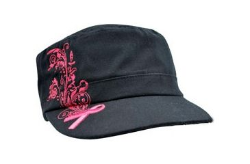 Zan Headgear Highway Honey Series Cap, Pink Ribbon - Black CPHH09