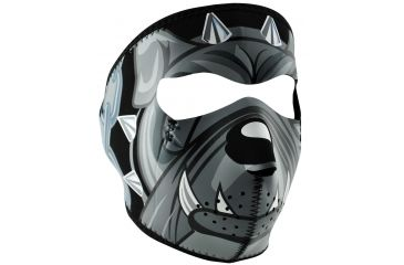 Zan Headgear Lethal Threat Neoprene Face Mask, Bulldog WNFMLT07