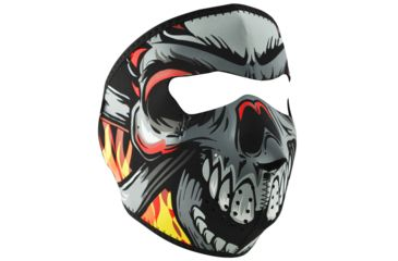 Zan Headgear Lethal Threat Neoprene Face Mask, Flame Skull WNFMLT02
