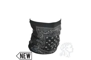 Zan Headgear Motley Tube, Fleece Lined, Black Paisley TF101