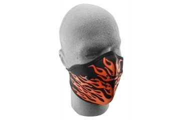 Zan Headgear Neo-X Face Mask Red Flames WNX124