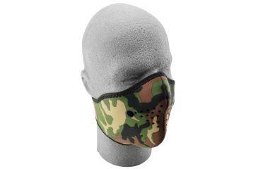 Zan Headgear Neo-X Face Mask Woodland Camo WNX118