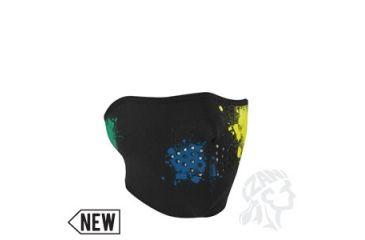 Zan Headgear Neoprene 1/2 Mask, Splatter, Glow in the Dark WNFM080HG