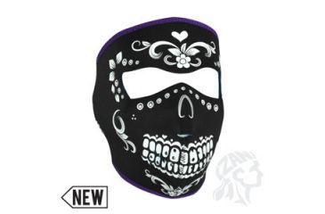 Zan Headgear Neoprene Face Mask, Blk/White Muerte WNFM078